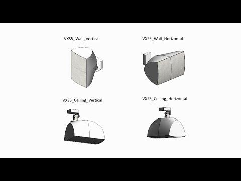 BIM Data (Revit®) for VXS/VXC/VXL Series Speakers