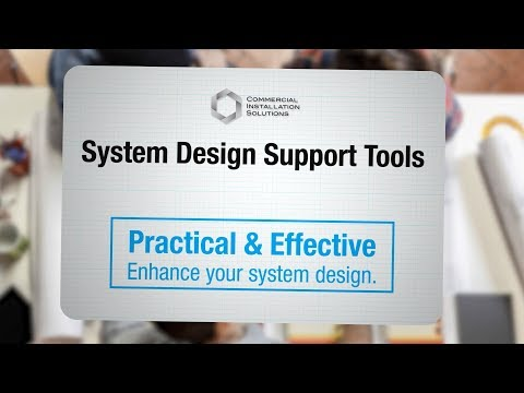 System Design Support Tools for Commercial Installed Sound