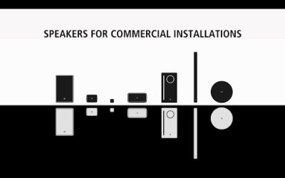 Speakers for Commercial Installations (VXS/VXL/VXC series)