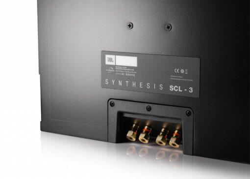 JBL Synthesis SCL-3 innfelt høyttaler bakside høttalerterminal detalj