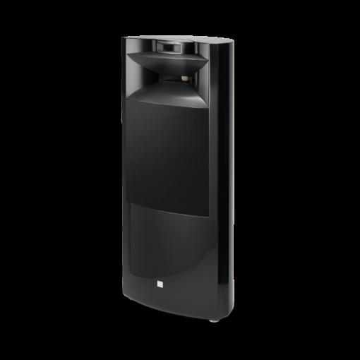 JBL K2 S9900 gulvstående høyttaler i sort høyglans finish med deksel