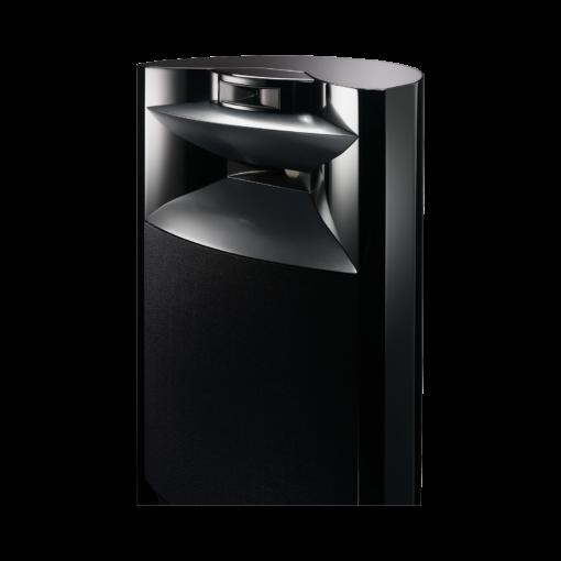 JBL K2 S9900 gulvstående høyttaler i sort høyglans finish detalj bilde med deksel