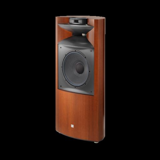 JBL K2S9900 gulvstående høyttaler i wood grain finish uten deksel