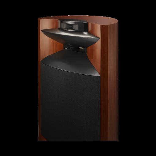 JBL K2 S9900 gulvstående høyttaler i wood-grain finish detalj bilde uten deksel
