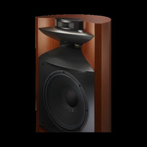 JBL K2 S9900 gulvstående høyttaler i wood-grain finish uten deksel