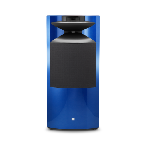 JBL K2 S9900 blue front with grille