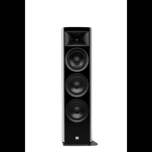 JBL HDI 3800 gulvstående høyttaler i sort finish uten deksel