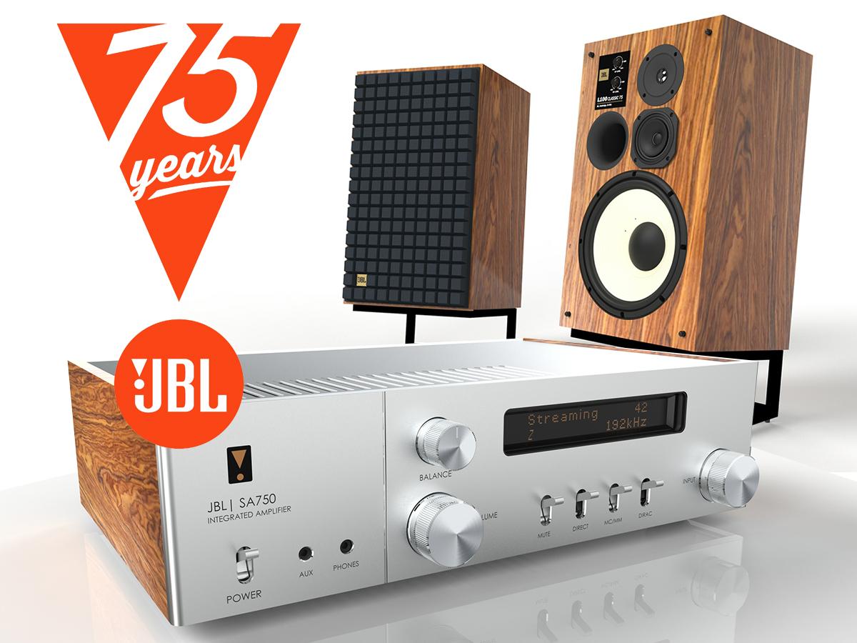 JBL 100 Classic 75-høyttaleren og JBL SA750