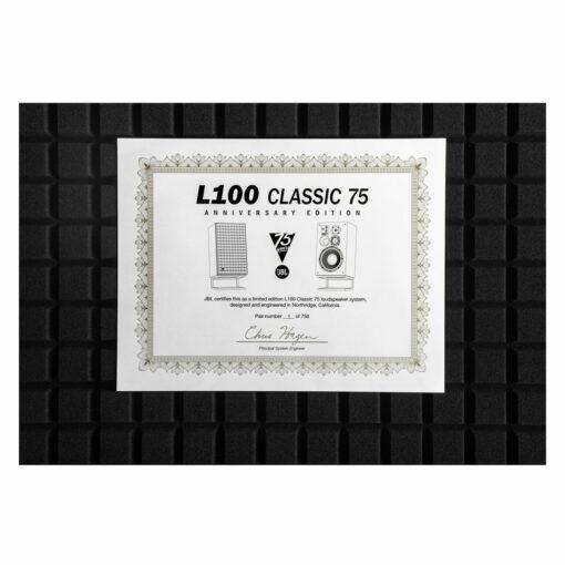L100 Classic 75 Certificate of Authenticity